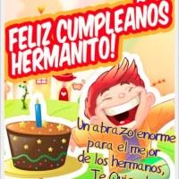 Tarjetas de Cumpleaños: Feliz cumpleaños hermanito
