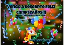 Vengo a desearte feliz cumpleaños!
