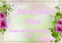 Tarjetas de feliz cumpleaños para una prima