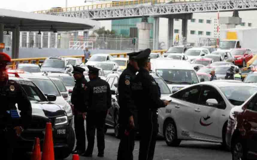 The National Guard prevents access to Uber and Cabify to Mexico's airports