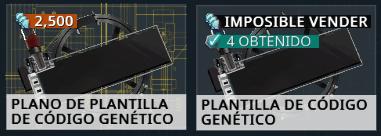 Comerciar Plantillas Código Genético