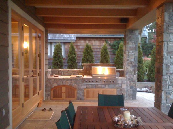 Outdoor cooking area  Todsen Design
