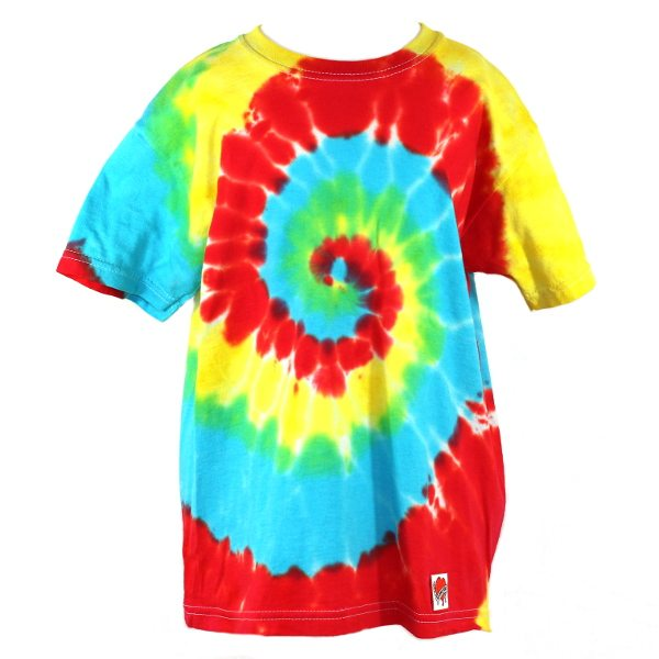 custom dyed kids t-shirt Primary Swirl