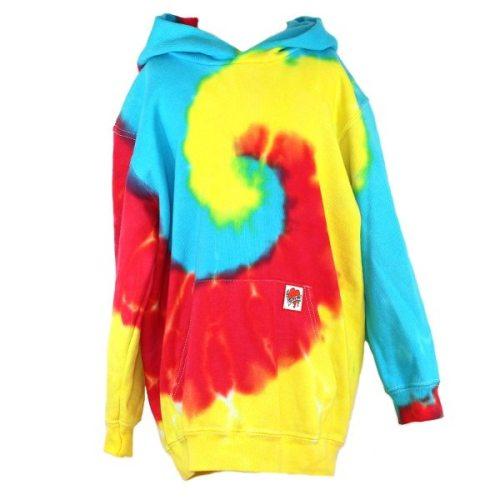 custom dyed kids hoody Primary Swirl