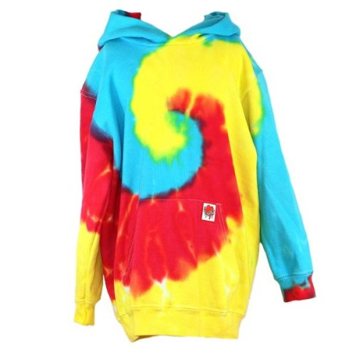 custom dyed kids hoody Primary Swirl