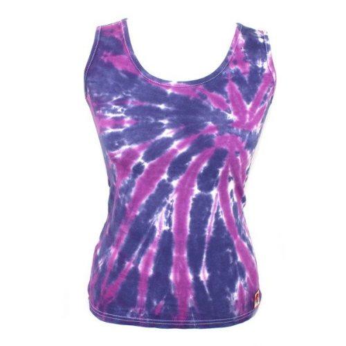 Ladies Vest - Navy & Purple Slash