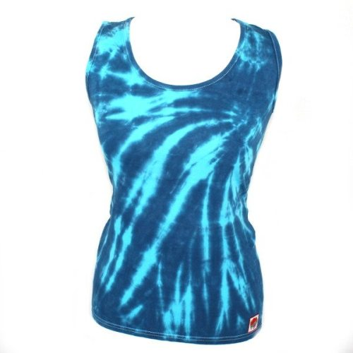 Ladies Vest - Navy & turquoise slash