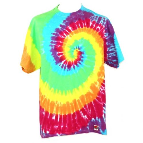 Loose fit tee - rainbow swirl