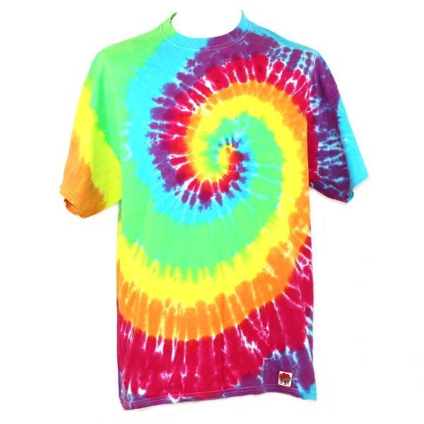 Loose fit tee - rainbow swirl