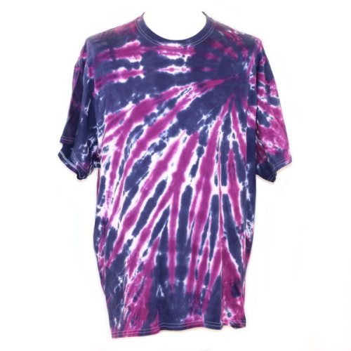 loose fit tee - navy & purple slash