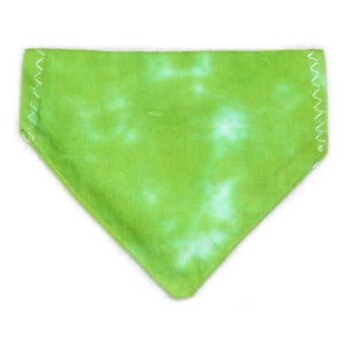 pet bandana - green scrunch