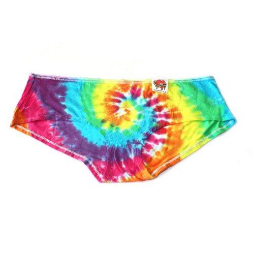 custom dyed ladies pants rainbow swirl pants