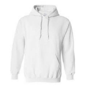 plain white hoody