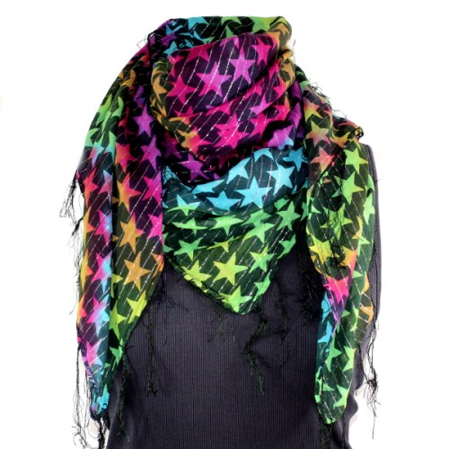 Rainbow star scarf
