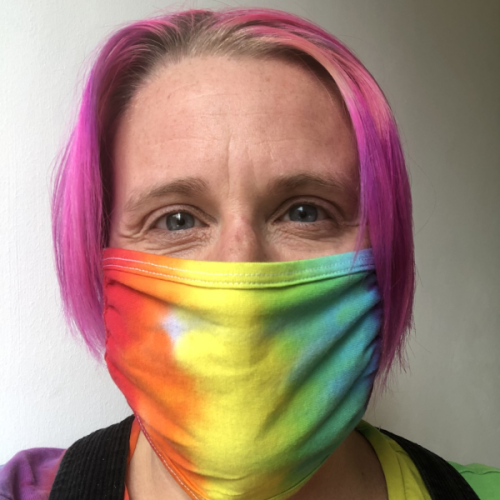 face mask rainbow