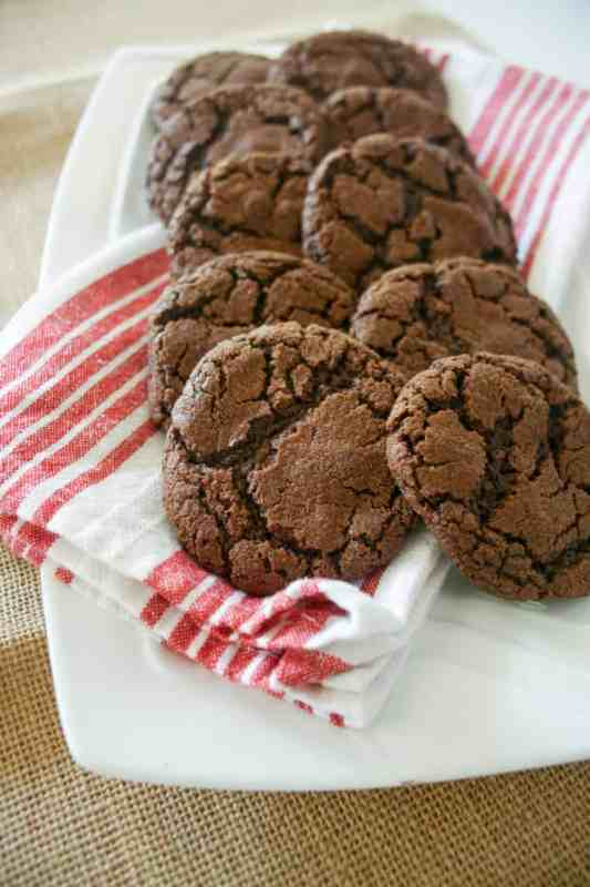 4 Ingredient Nutella Cookies are the simplest, yest most delicious chocolate cookie you will ever taste. So easy to make and perfect for kids to help in the kitchen!
