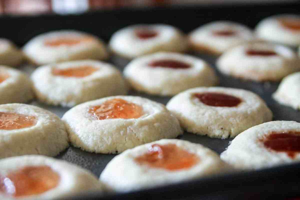 Shortbread & Jam Thumbprint Cookies