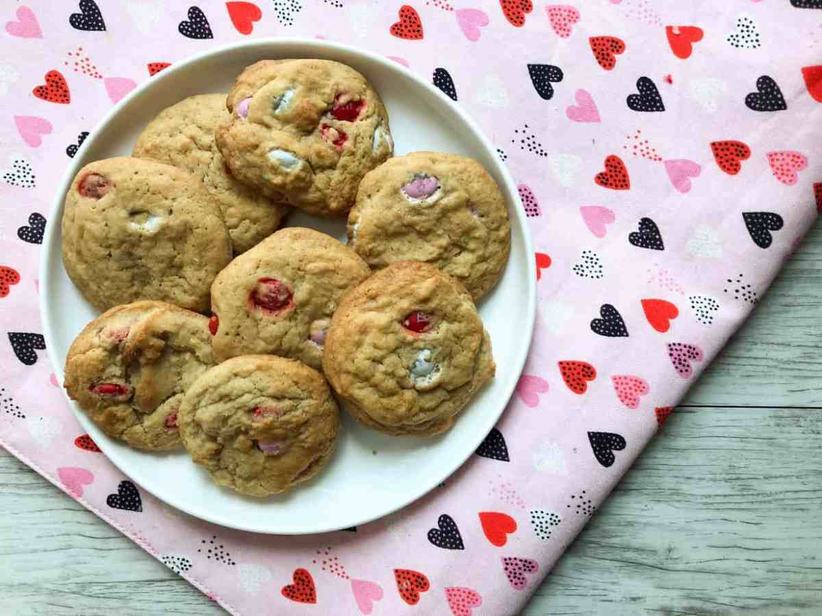 Valentine's M&M's Cookies