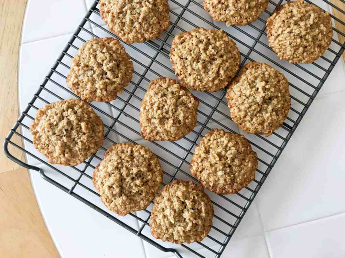 Mom's 4 Ingredient, 15 Minute Oatmeal Cookies