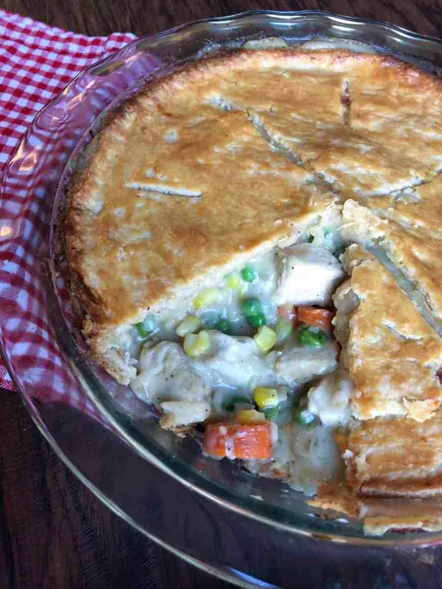 One Hour Chicken Pot Pie...Comfort food at it's finest!