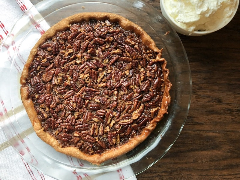 Classic Pecan Pie with Homemade Whipped Cream