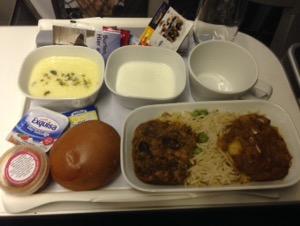 ルフトハンザ プレミアムエコノミー機内食