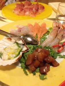ベネチア 絶品イカスミパスタと魚介が食べれるお勧めレストラン Osteria Antico Giardinettoでディナー