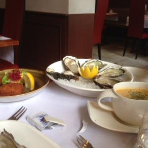 ベルギー ブリュージュで美味しいシーフード@Restaurant Den Gouden Karpel