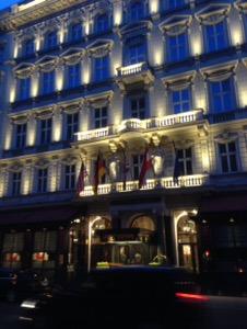 ウィーン早朝ランホテルザッハ