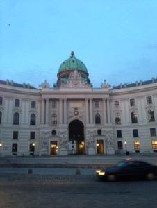ウィーン早朝ランホーフブルク宮殿
