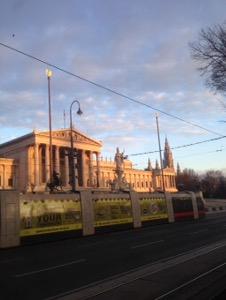 ウィーン早朝ランオーストリアの国会議事堂