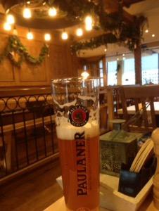 フランクフト空港で本格的なドイツ料理をいただく@パウラーナー