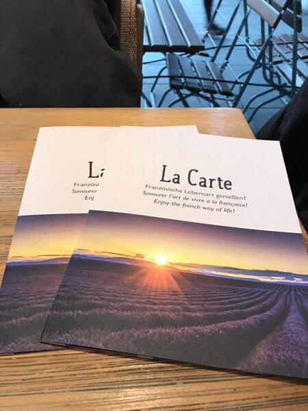 フランクフルトのお薦めカフェフランス風カフェLes Deux Messieursのメニュー