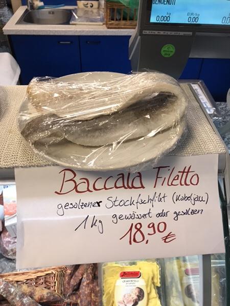 シチリアの冬の風物詩バッカラ(Baccala)