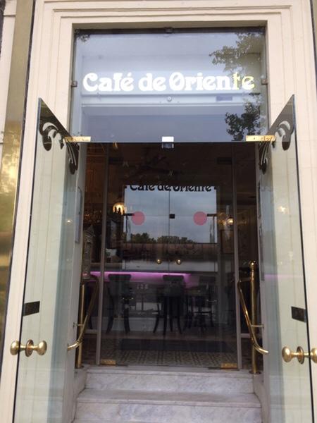 マドリッド王宮前のオシャレなカフェCafé de Oriente