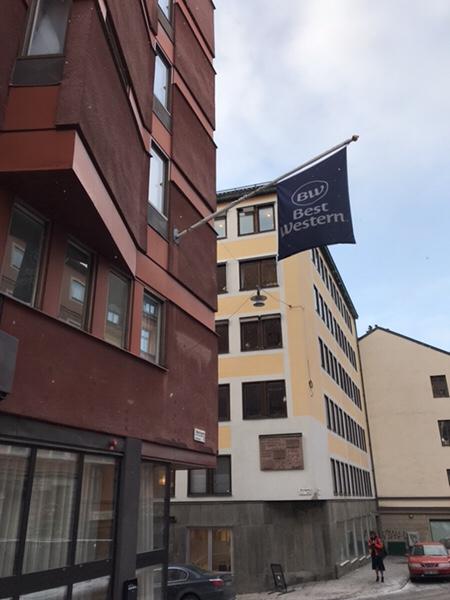 ストックホルム中心部にある便利なホテルBest Western Kom Hotel Stockholm宿泊記外観