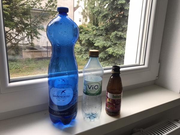 ドイツ旅行の際の注意点。そのペットボトルとビールの缶捨ててはいけませんよ!ペットボトルの写真