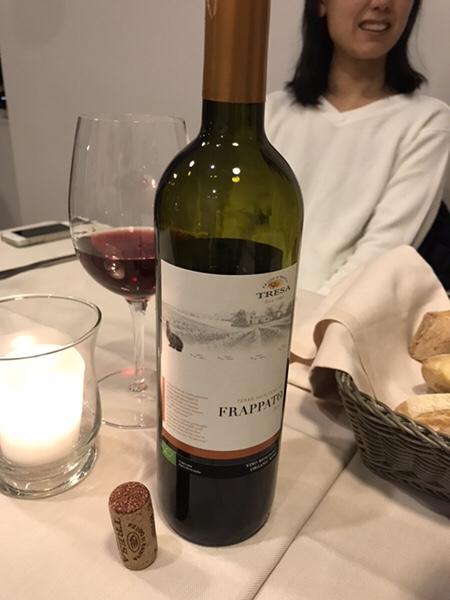 Bistrot du monde taorminaワインのボトル