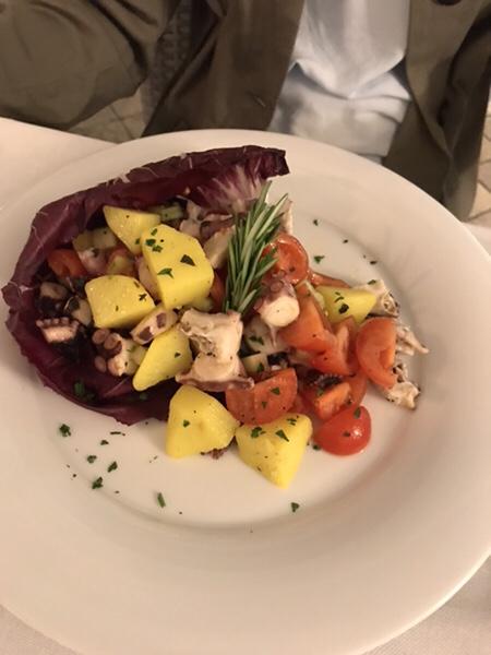 hotel mea lipari restaurant chimera Octopus Salad With Potatoes