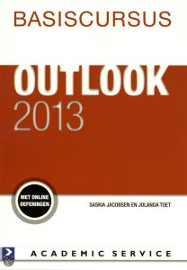 Boek Basiscursus Office Outlook 2013