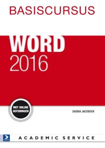 Boek Basiscursus Office Word 2016