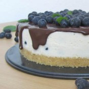 No Bake Cake Joghurt Heidelbeere