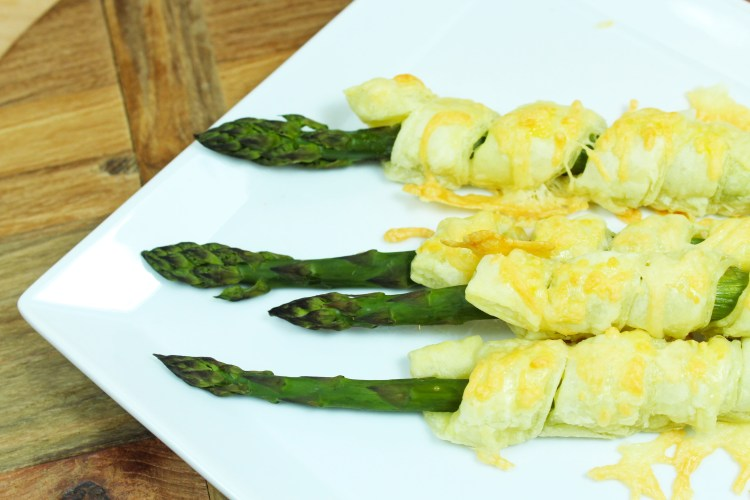 Spargel in Blätterteig