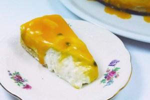 Portugiesischer Käsekuchen mit Passionsfrucht