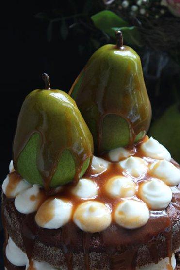 Naked Cake Lebkuchen Bratbirne Karamell