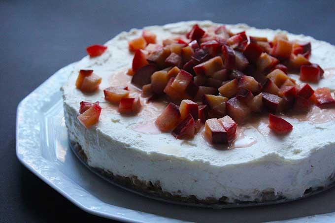 No Bake Cake Spekulatius Pflaume