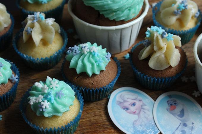 Cupcakes Frozen Elsa