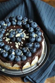 No Bake Cake mit Heidelbeeren