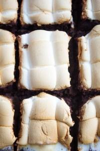 Kaffeebrownie mit Marshmallow