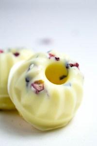 Mini Gugelhupf Pfirsich mit weißer Schokolade